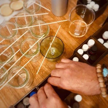 Fabricación de velas artesanales