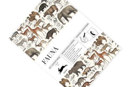 Libro de papeles de regalo con motivos de fauna vintage
