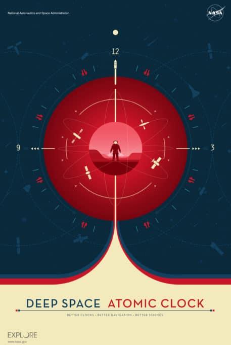 Reloj atómico rojo