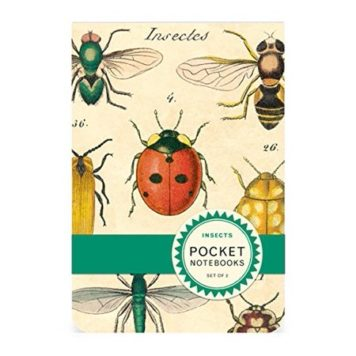 2 Pocket Notebooks Vintage insects Illustrations