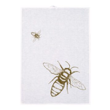 Linen Tea towel Screen print - Apis mellifera