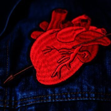 Embroidered Patch Anatomical Heart