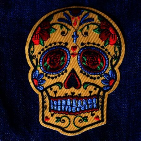 Parche bordado Dia de los Muertos