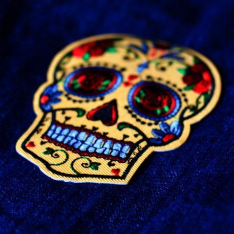 Embroidered Patch Dia de los Muertos