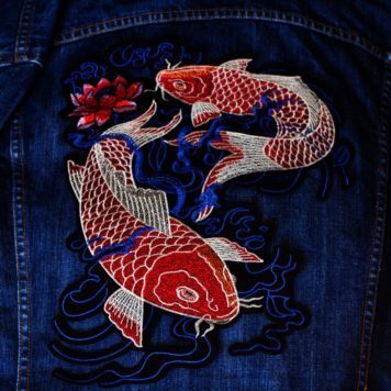 Embroidered Patch Koi Fish
