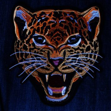 Embroidered Patch Leopard