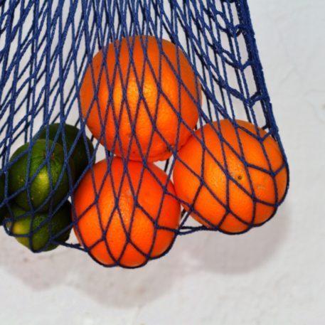 Bolsa de compras de malla con asas largas