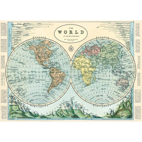 The World in Hemispheres Cavallini & Co