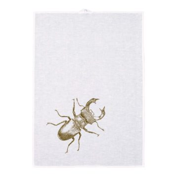 Linen Tea towel Screen print - Lucanidae