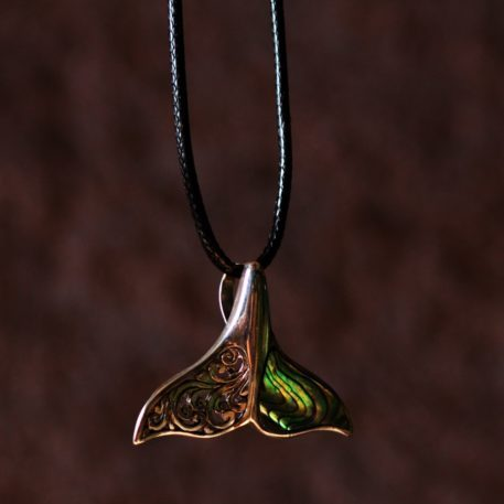 Sterling Silver Whale Tale Abalone