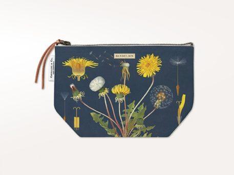 Bolsa vintage con cremallera de algodón natural