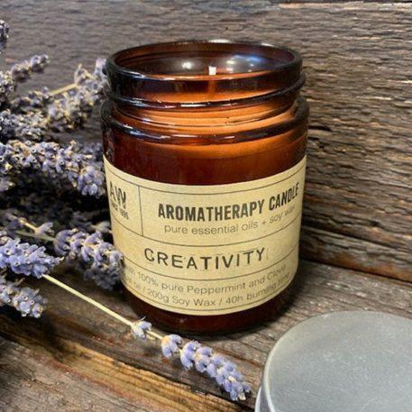 Vela de cera de soja de aromaterapia