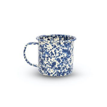 Navy Blue Splatter Mug