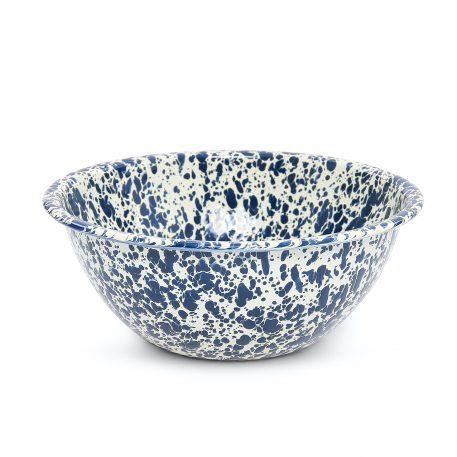 Navy Blue Splatter Salad Bowl