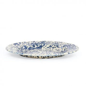Navy Blue Splatter Dinner Plate
