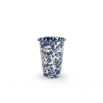 Navy Blue Splatter Tumbler