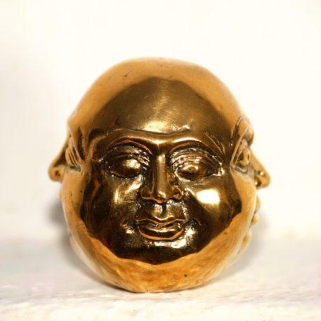 Figura de bronce fundido del buda Hindú Brama