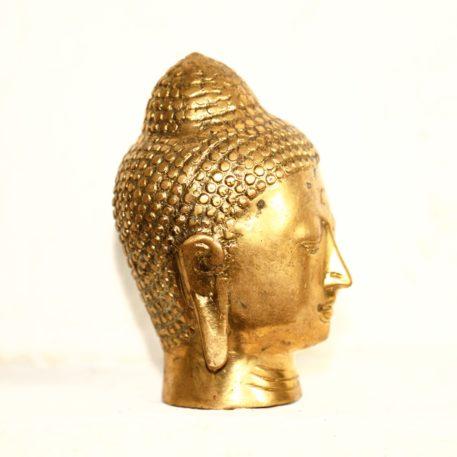 Cabeza de Bronce Fundido de Buda