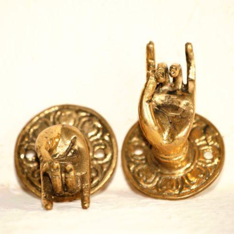 Karana Mudra del Buda en Bronce Fundido