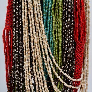 Multi strand bead necklaces