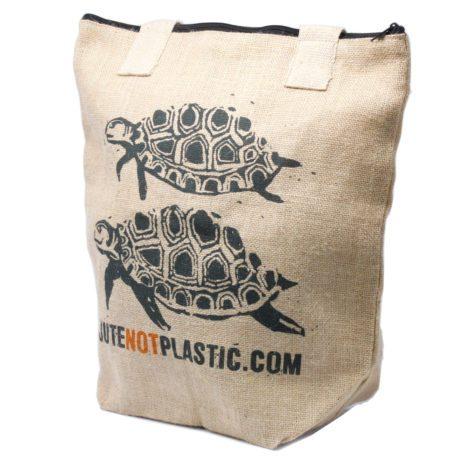 Bolso de yute ecológico - Dos tortugas