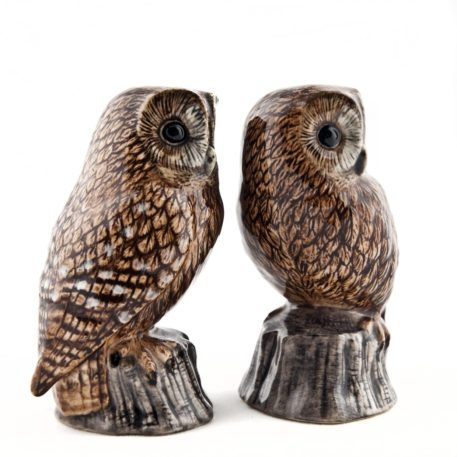 Pair of Ceramic Tawny Owls Salt and Pepper