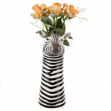 Charming Ceramic Zebra Flower Vase - Large