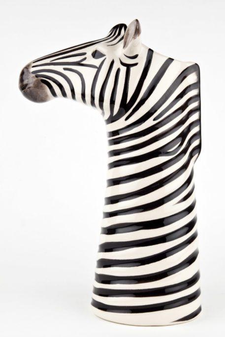 Charming Ceramic Zebra Flower Vase - Large