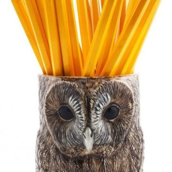 Delightful Ceramic Tawny Owl Pencil Pot