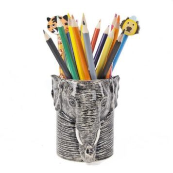 Groovy Ceramic Elephant Pencil Pot