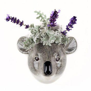 Exquisite Ceramic Koala Wall Flower Vase - Small