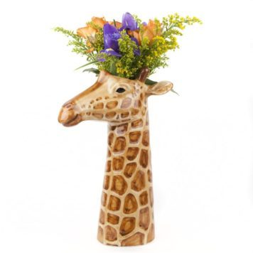 Awesome Ceramic Giraffe Flower Vase - Large
