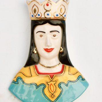 Unique Ceramic Persian Queen's Bust