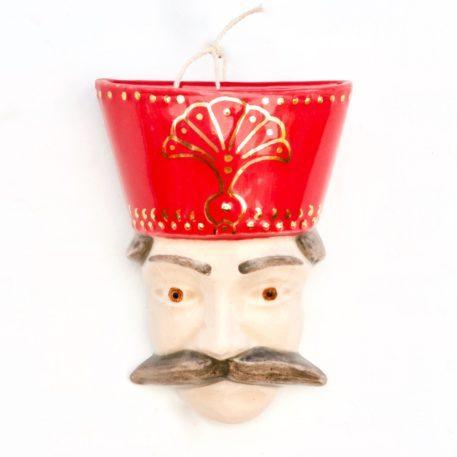 Unique Ceramic Persian King's Head