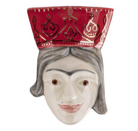 Cerámica única cabeza de reina persa