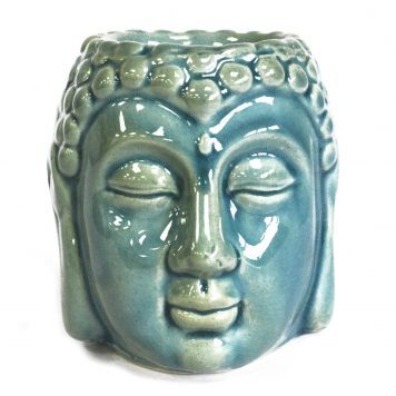 Small Stoneware Buddha Head Oil Burner