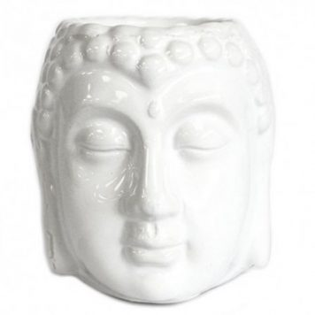 Stoneware Buddha Head Oil Burner