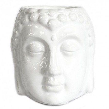 Quemador de aceite de cabeza de Buda de gres