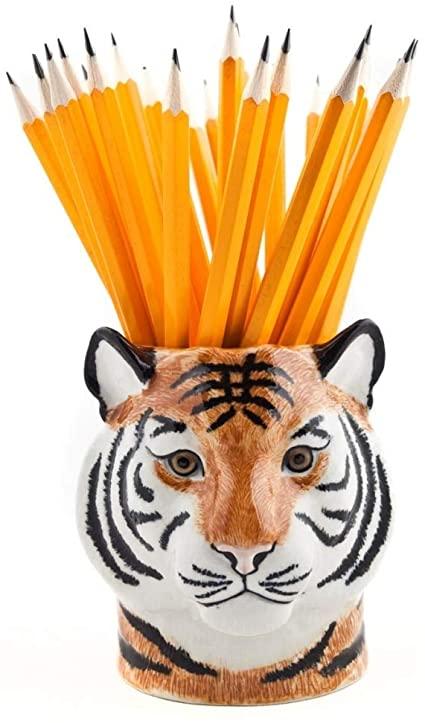 Vaso de lápices tigre