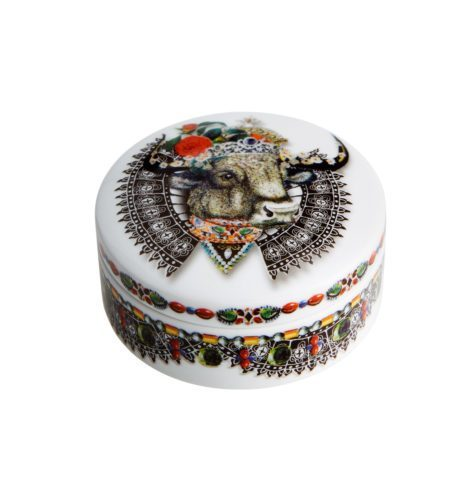 Christian Lacroix Small Round Porcelain Box