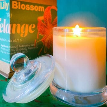 Artisan Botanical Candles: Tiger Lily Blossom candle 9cl